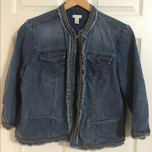 Chico's size 3 denim jacket